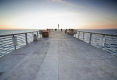 Hermosa Beach Pier Sunset Royalty Free Stock Image