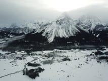 Hermosa vista cerca de Lermoos, Austria Fotografía de archivo