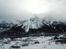 Hermosa vista cerca de Lermoos, Austria Imagen de archivo libre de regalías