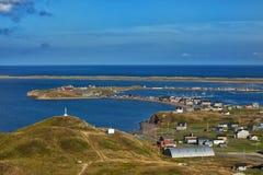 Hermosa vista de Havre Aubert en Iles de la Madeleine Imagen de archivo libre de regalías