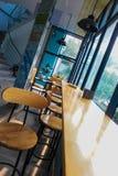 Hermosa vista de la cafetería imagenes de archivo