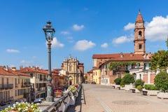 Hermosa vista de la ciudad del sujetador en Italia Fotos de archivo libres de regalías