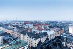 Hermosa vista de la ciudad de Helsinki, Finlandia en invierno Imagen de archivo