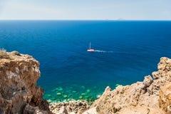 Hermosa vista de la costa Foto de archivo libre de regalías