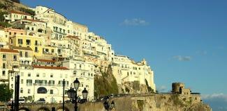 Hermosa vista de la costa de Amalfi, Italia imagen de archivo libre de regalías