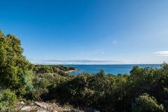 Hermosa vista de la costa de Croacia Foto de archivo libre de regalías