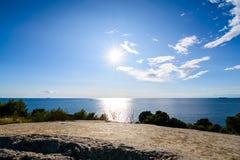 Hermosa vista de la costa de Croacia Fotografía de archivo libre de regalías