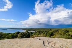 Hermosa vista de la costa de Croacia Imagen de archivo libre de regalías