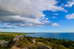 Hermosa vista de la costa de Croacia Imágenes de archivo libres de regalías