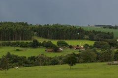 Hermosa vista de la granja fotografía de archivo