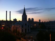 Hermosa vista de la iglesia Fotos de archivo