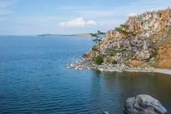 Hermosa vista de la isla de Olkhon Foto de archivo