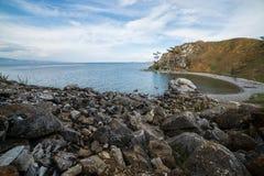 Hermosa vista de la isla de Olkhon Foto de archivo libre de regalías