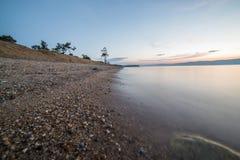 Hermosa vista de la isla de Olkhon Fotografía de archivo