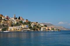 Hermosa vista de la isla de Symi en Grecia imagen de archivo libre de regalías