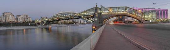 Hermosa vista de la Moscú de igualación Fotos de archivo libres de regalías