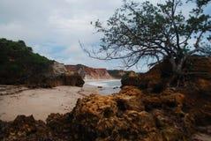 hermosa vista de la naturaleza, pasando por alto una pureza hermosa del mar y de sus rocas, junto con su maravilloso fotografía de archivo
