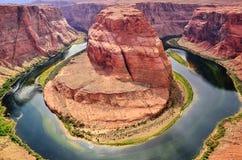 Hermosa vista de la página de herradura de la curva, Arizona fotografía de archivo