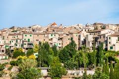 Hermosa vista de la pequeña ciudad Valldemossa Fotografía de archivo