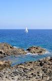 Hermosa vista de la playa de la isla de Menorca - viaje asombroso a Balearic Island en España Fotografía de archivo libre de regalías