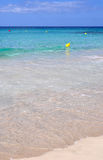 Hermosa vista de la playa de la isla de Menorca - viaje asombroso a Balearic Island en España Foto de archivo libre de regalías