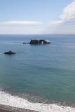 Hermosa vista de la playa de la roca de la cabra en Sonoma California Imagen de archivo