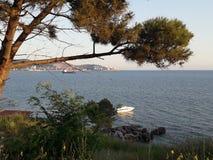 Hermosa vista de la playa imagenes de archivo