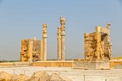 Hermosa vista de la puerta de Persepolis Foto de archivo