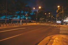 Hermosa vista de las calles de la noche fotos de archivo libres de regalías