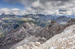 Hermosa vista de las dolomías en verano Fotografía de archivo libre de regalías