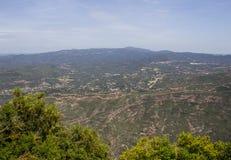 Hermosa vista de las montañas España de Montserrat foto de archivo