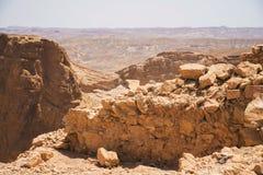 Hermosa vista de las montañas secas Imágenes de archivo libres de regalías