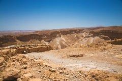 Hermosa vista de las montañas secas Foto de archivo libre de regalías