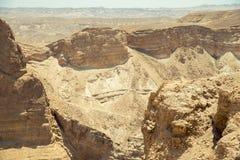 Hermosa vista de las montañas secas Fotografía de archivo libre de regalías