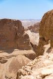 Hermosa vista de las montañas secas Imagenes de archivo