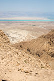 Hermosa vista de las montañas secas Imagen de archivo
