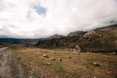 Hermosa vista de las monta?as del C?ucaso foto de archivo