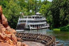 Hermosa vista de Liberty Square River Boat en el reino mágico en Walt Disney World 1 foto de archivo libre de regalías