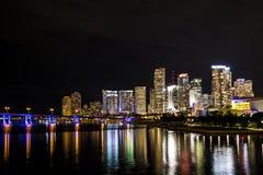 Hermosa vista de Miami céntrica Foto de archivo libre de regalías
