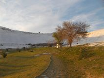 Hermosa vista de Pamukkale Hierapolis foto de archivo libre de regalías