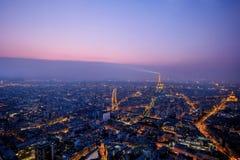 Hermosa vista de París, Francia, torre Eiffel Foto de archivo