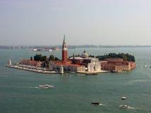 Hermosa vista de San Giorgio Maggiore Cathedral fotografía de archivo libre de regalías