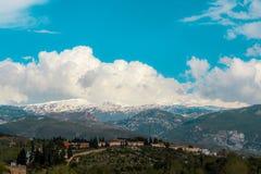 Hermosa vista de Sierra Nevada, Granada, España fotos de archivo libres de regalías