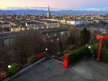 Hermosa vista de Turín Foto de archivo libre de regalías