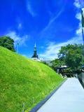 Hermosa vista de una ciudad europea en un día soleado imagen de archivo