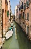 Hermosa vista del canal veneciano Imagen de archivo