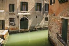 Hermosa vista del canal veneciano Fotografía de archivo