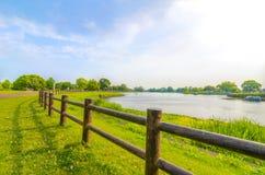 Hermosa vista del lago Ezu Foto de archivo