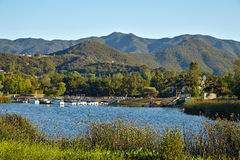 Hermosa vista del lago Malibu imagen de archivo libre de regalías