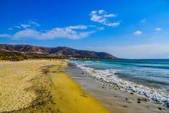 Hermosa vista del mar Mediterráneo de la isla Naxos en Grecia fotos de archivo libres de regalías
